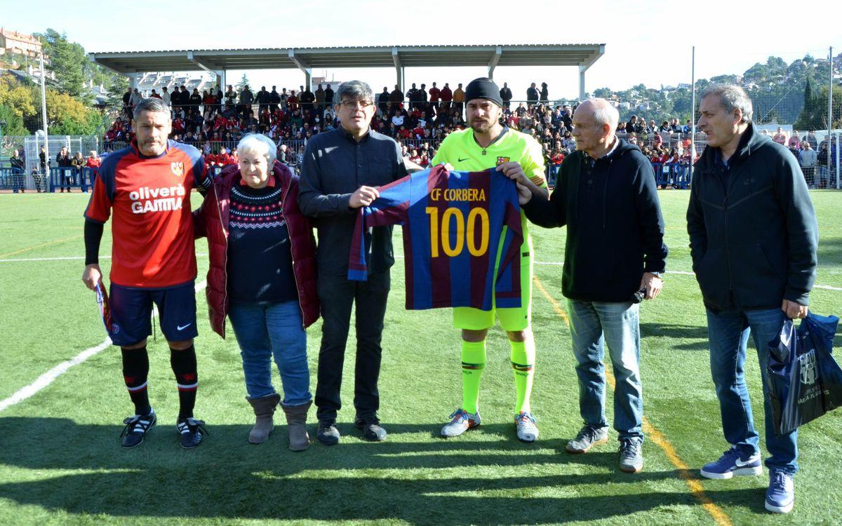 Victoria de la Agrupación en el centenario del CF Corbera