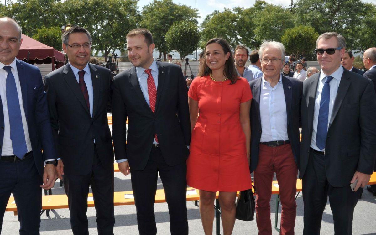 Los exjugadores del Barça recuerdan al Miniestadi