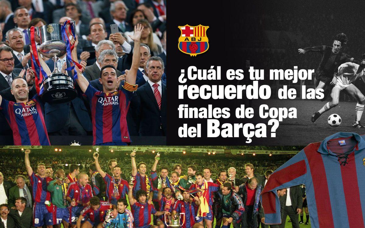 La Crida de l'Agrupació: elige tu mejor recuerdo de una final de la Copa del Rey y gana una camiseta vintage del Barça