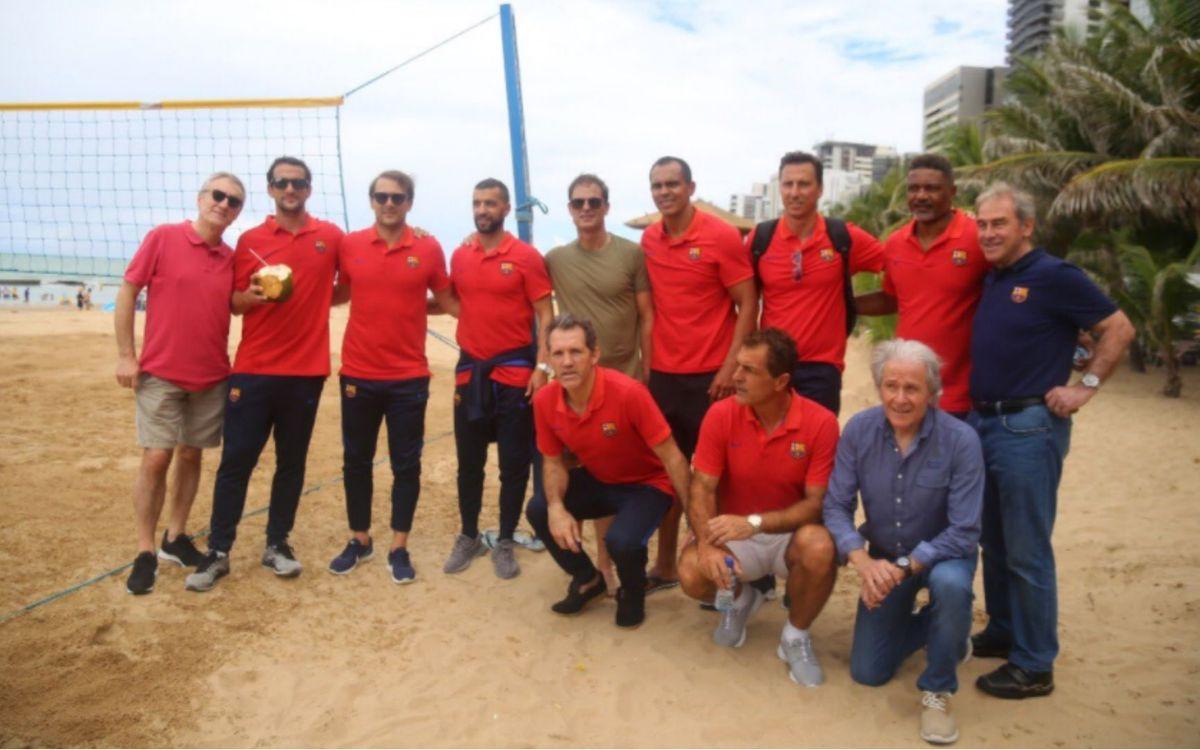 El presidente de la Agrupación acompaña al Barça Legends en Brasil