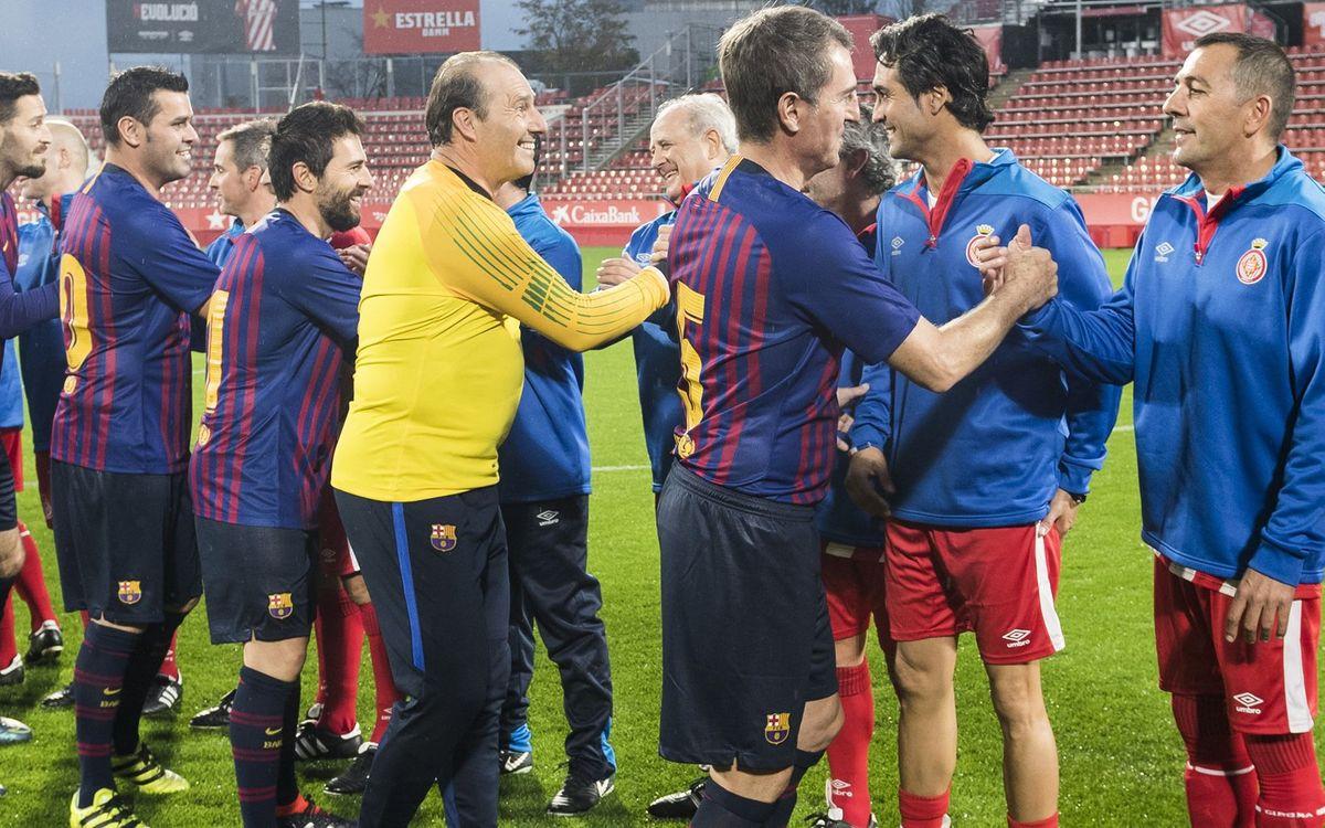 Victoria azulgrana en los 10 años de los veteranos del Girona FC