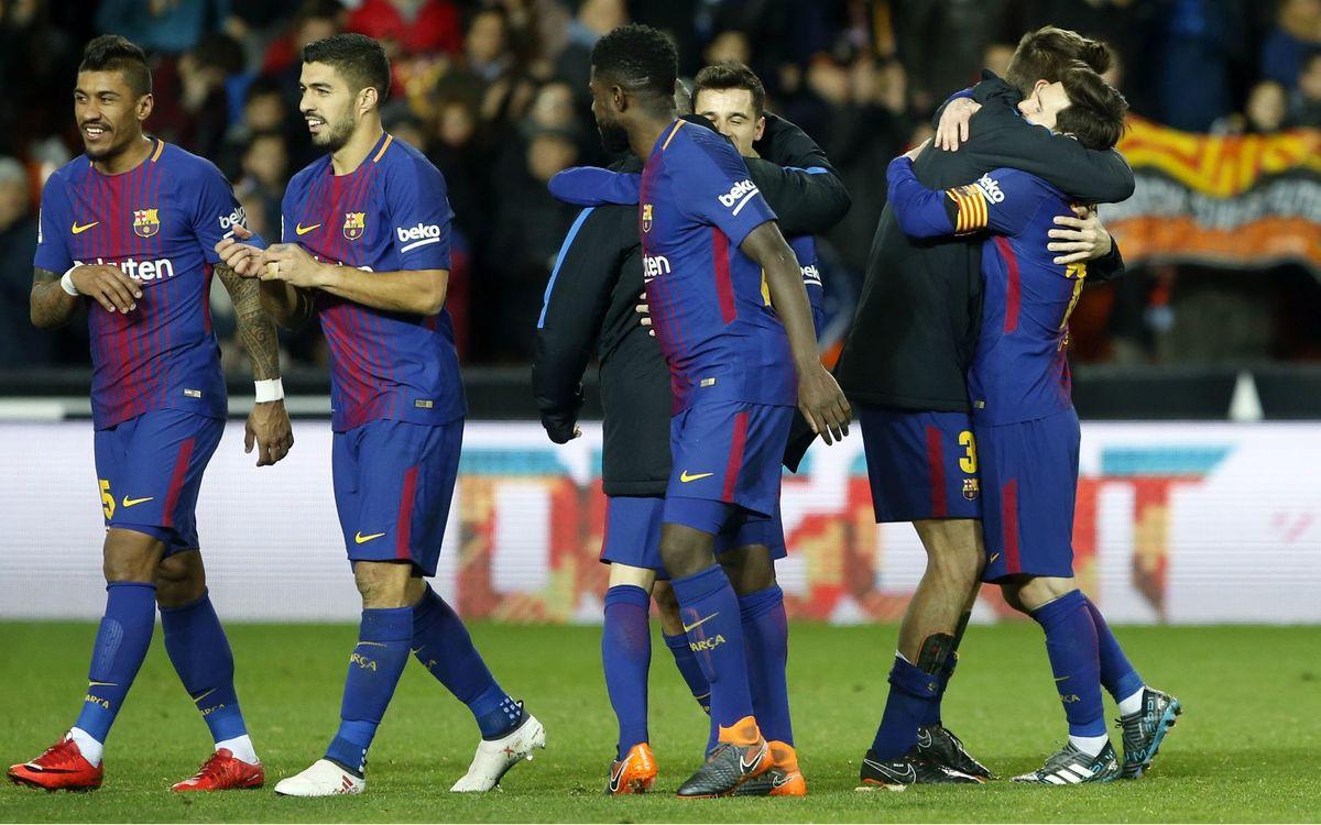 El FC Barcelona arriba a la seva 40a final de la Copa del Rei