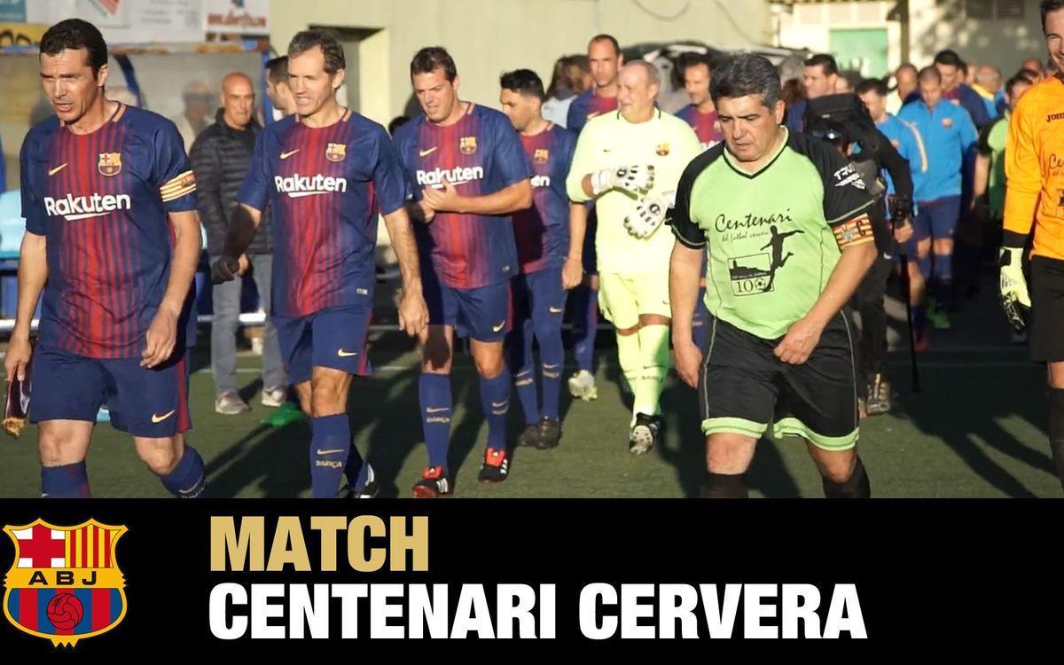 El vídeo del centenario del fútbol en Cervera