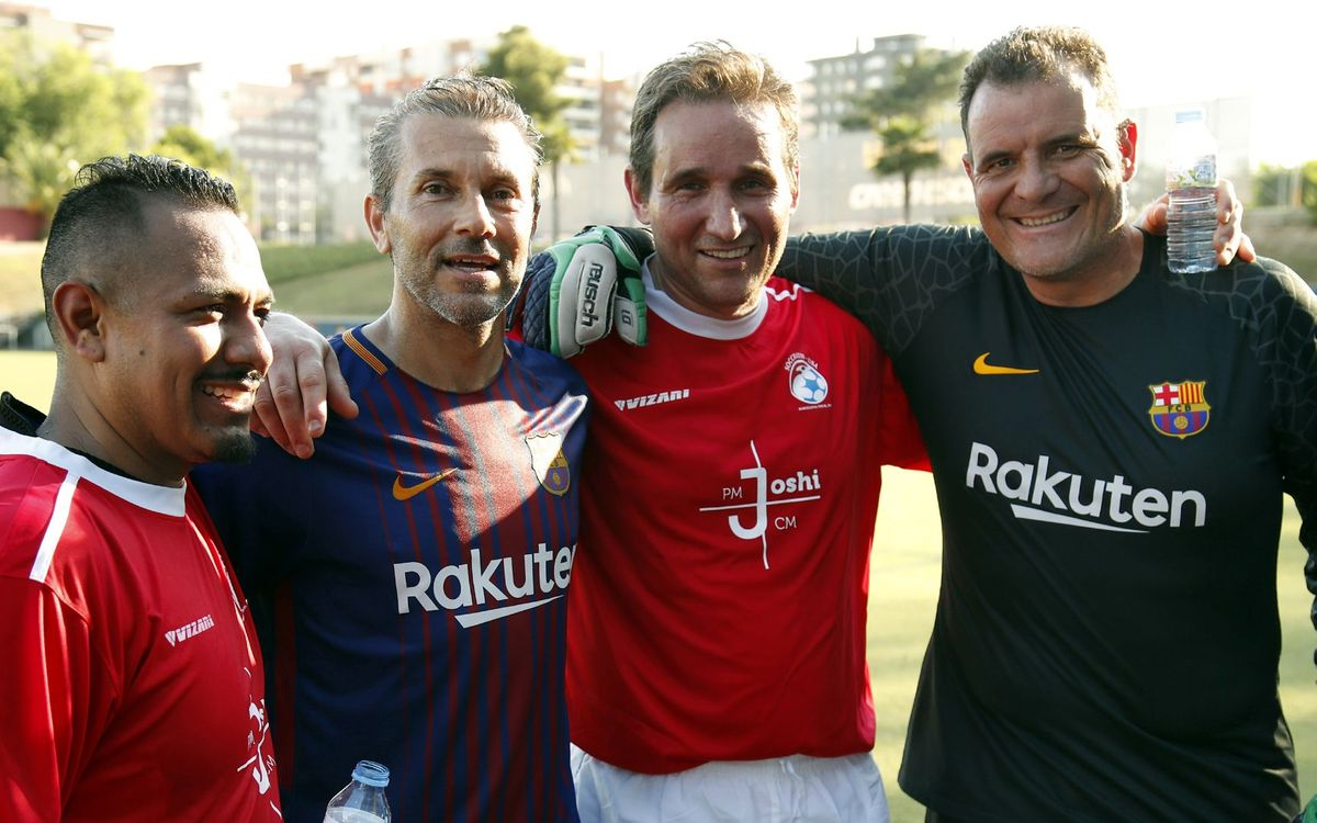Playing with FCB ex-players, a great experience