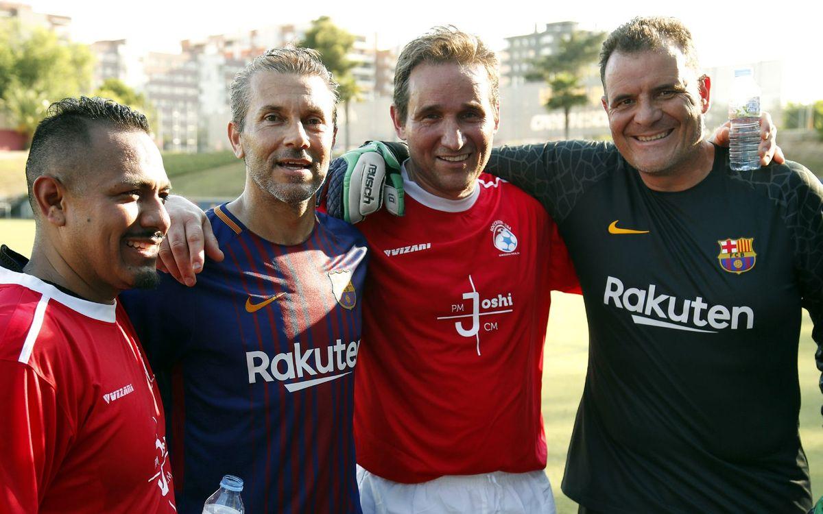 Jugar amb els exjugadors del FCB, tota una experiència