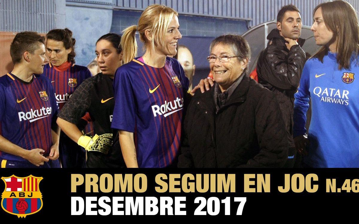 Núria Llansà, pionera del FCB Femenino, en el Seguim en Joc