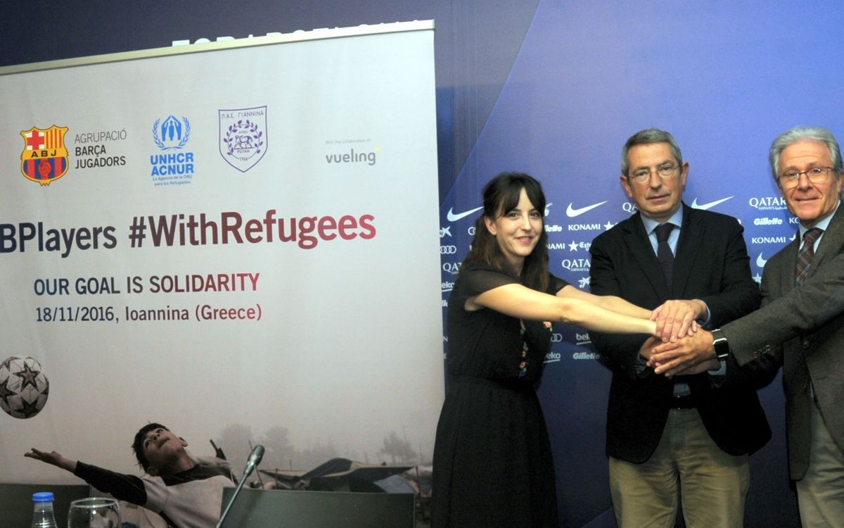 FCB Players to hold a solidarity day with refugees in Greece