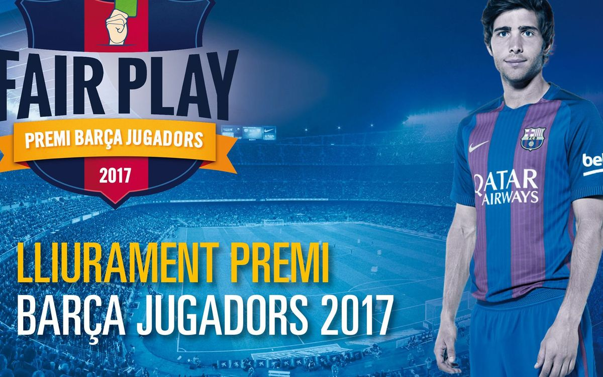 Sergi Roberto rebrà dilluns 11 de desembre el Premi Barça Jugadors