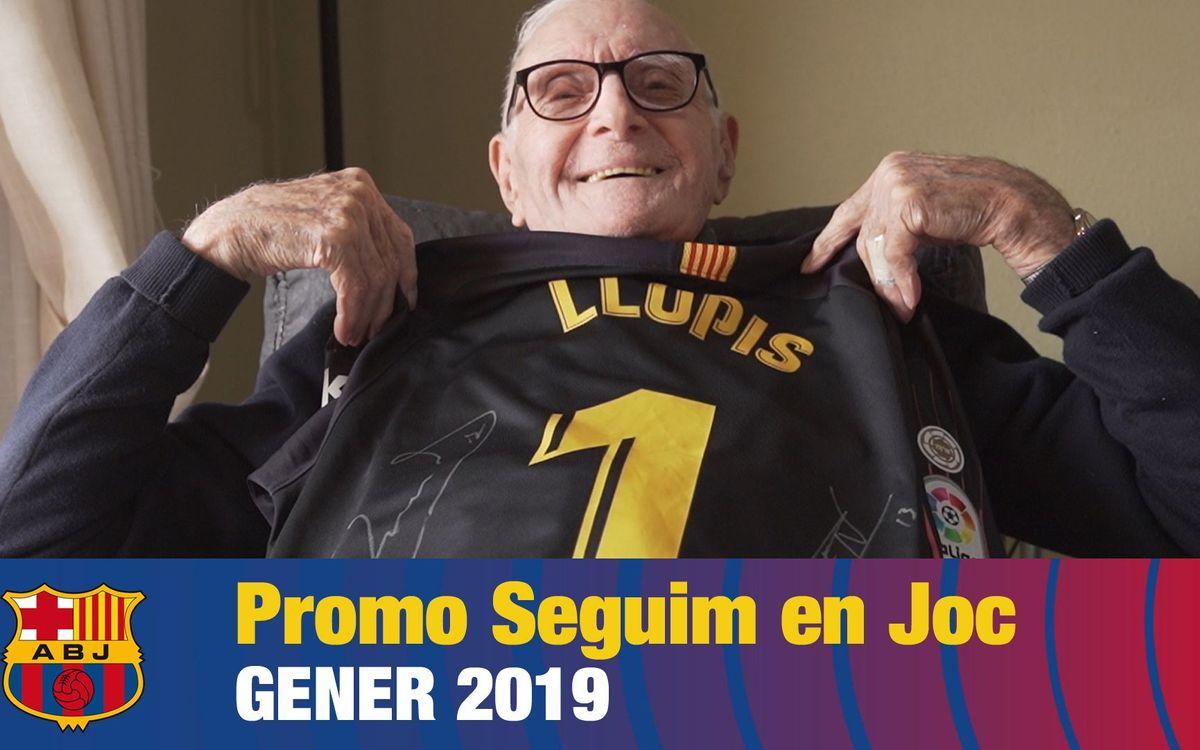 El Seguimos en Juego visita Juan Bautista Llopis, el exjugador más veterano del Barça