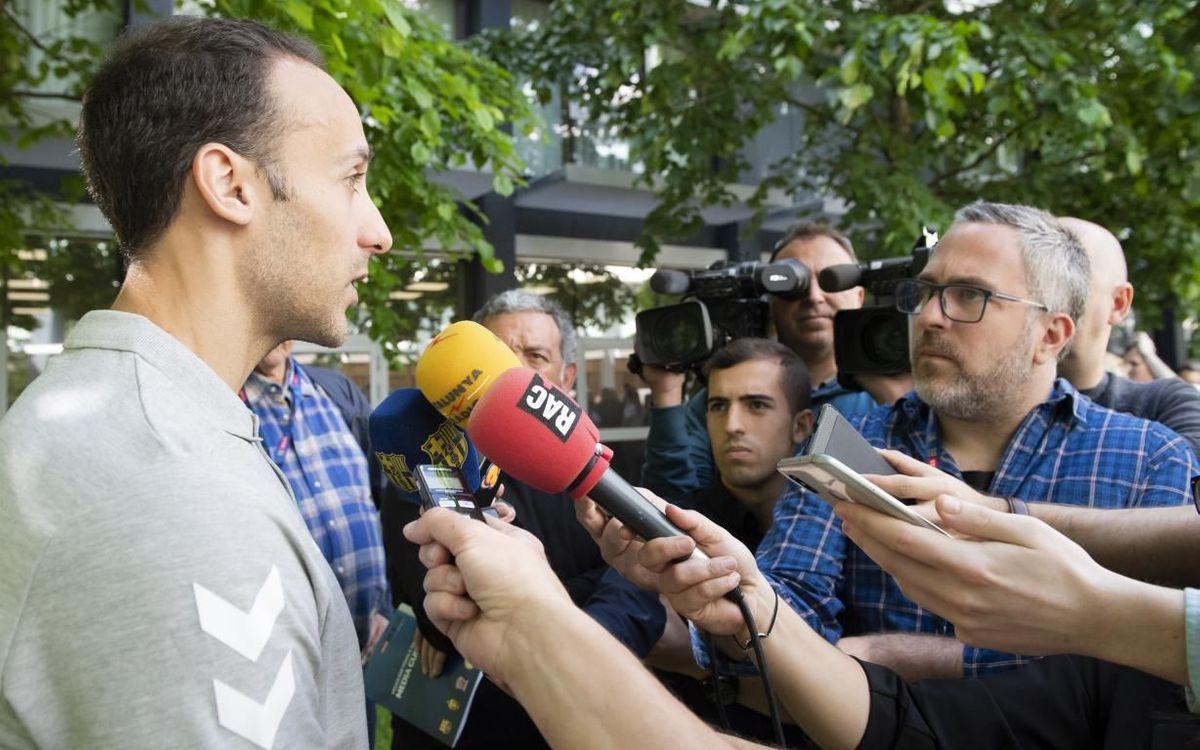 Roberto García Parrondo, en el Media Call - VÍCTOR SALGADO