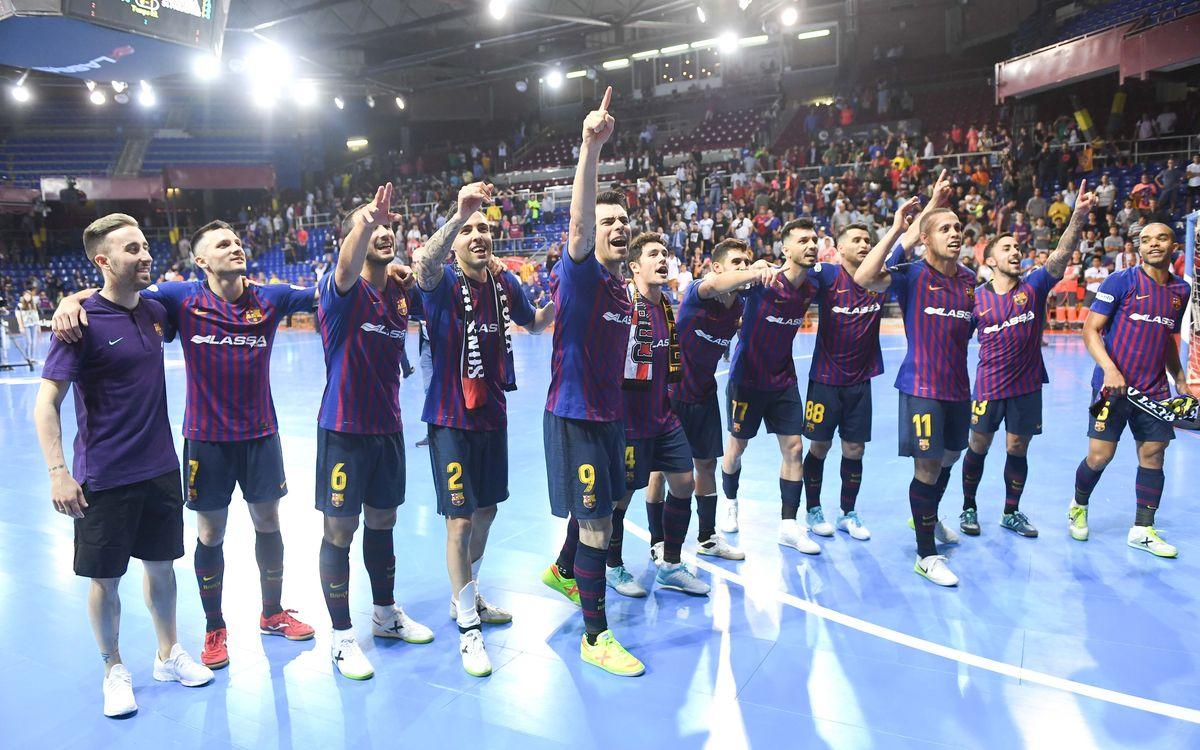 Barça Lassa - Palma Futsal: ¡Victoria, hacia la final y hacia Europa! (1-1; 3-2)