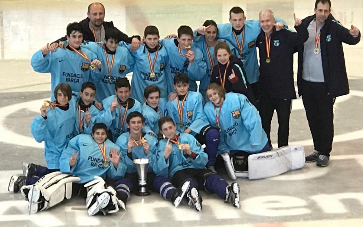 Las categorías inferiores de hockey hielo siguen sumando títulos