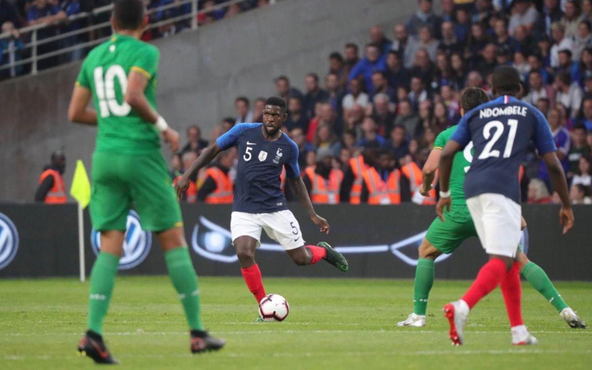 Umtiti, titular en el amistoso contra Bolivia