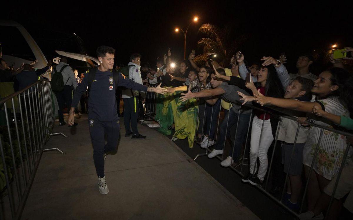 Brasil arrive in Brasilia