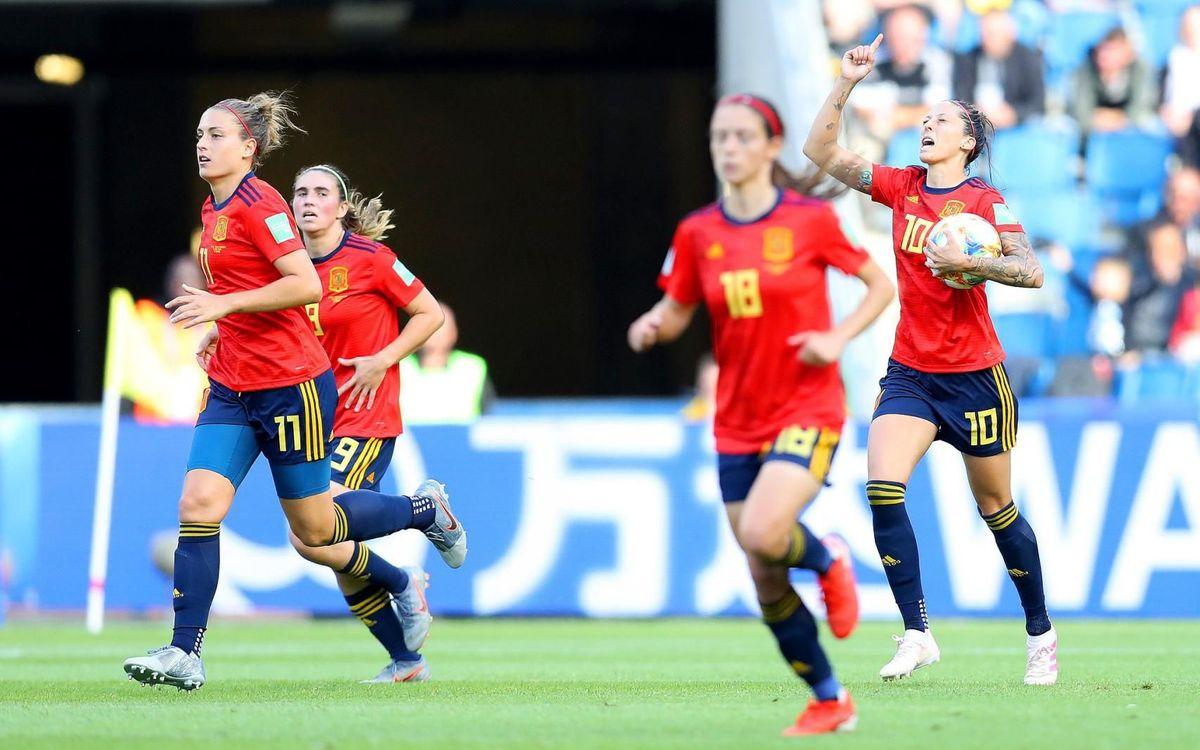 Primera victòria de la selecció espanyola en un Mundial