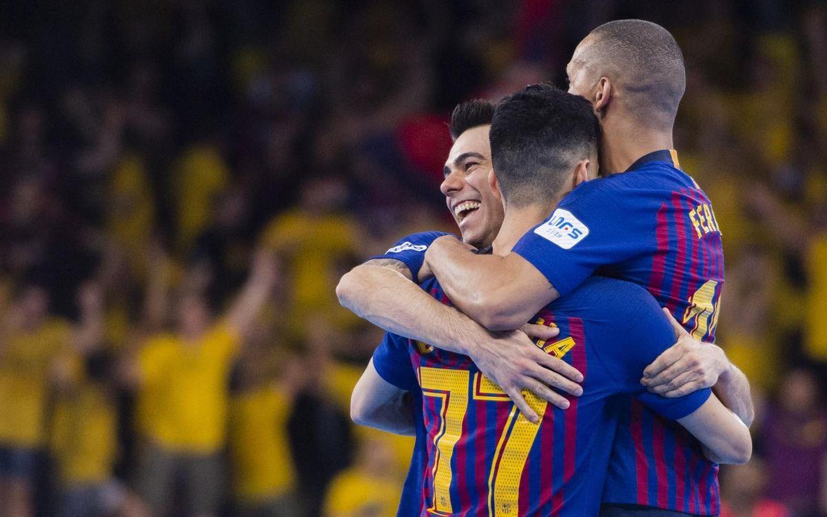 Barça Lassa – ElPozo Múrcia: Huracà blaugrana al Palau (7-2)