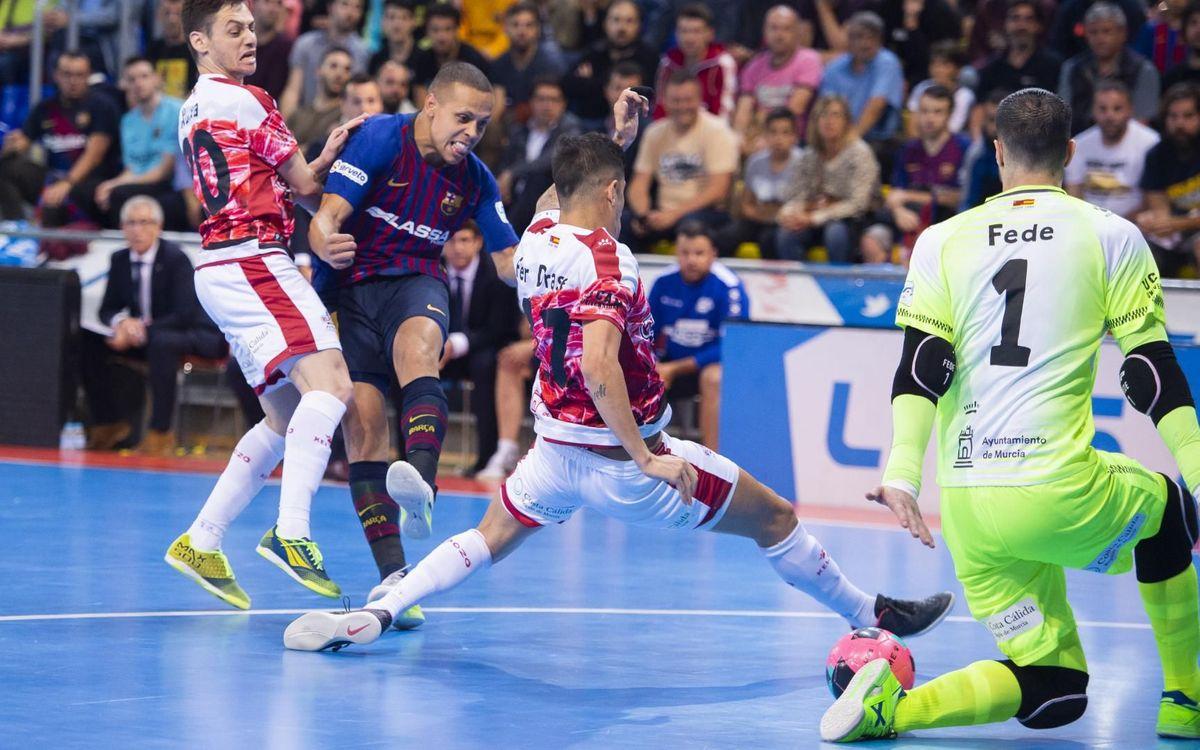 Barça Lassa - ElPozo Murcia: Obligados a ganar en Murcia (2-3)