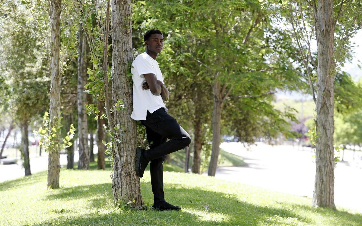 Moussa Wague en una entrevista exclusiva per als mitjans del Club - MIGUEL RUIZ-FCB