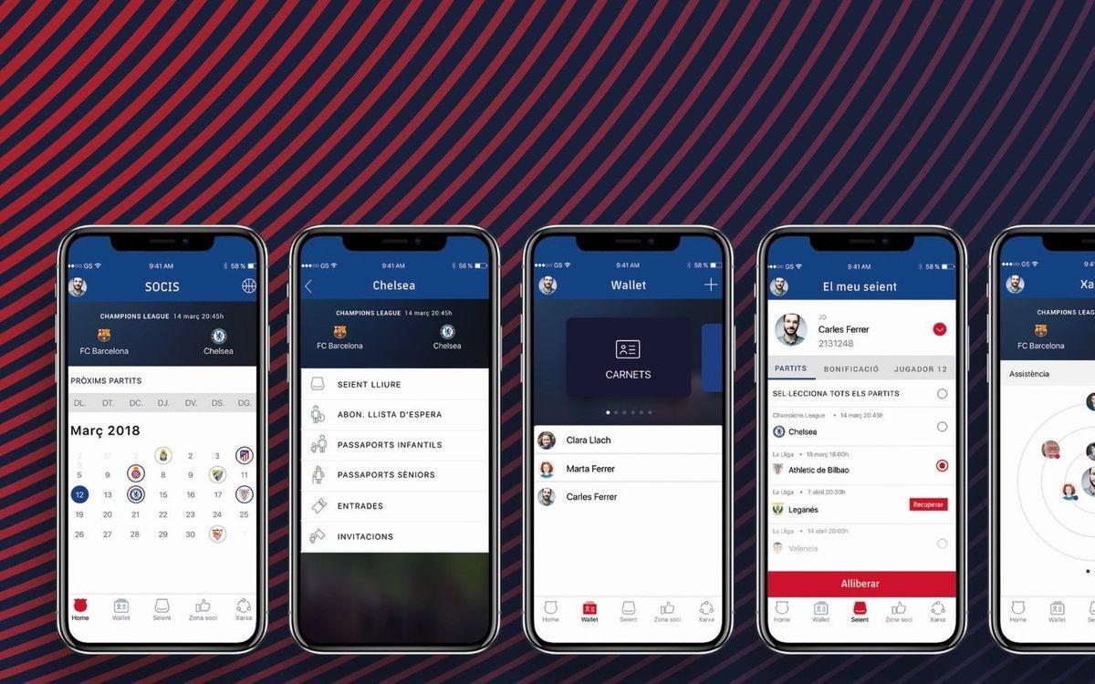 Nova app de socis per fer més fàcils tots els tràmits