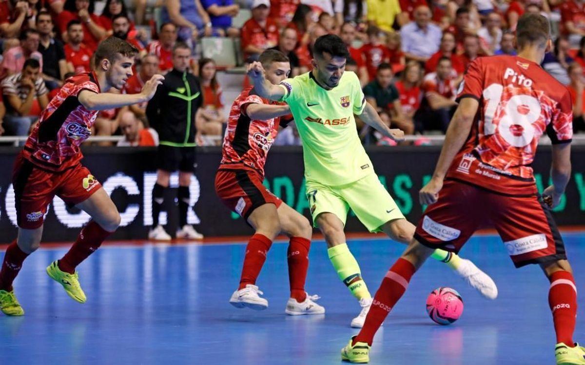 ElPozo Murcia - Barça Lassa: Cruel derrota en el tercer asalto (3-3; 4-3)