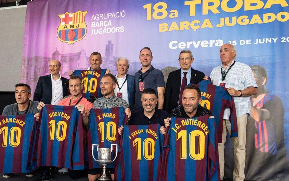 La Agrupación Barça Jugadores celebra un encuentro multitudinario en Cervera