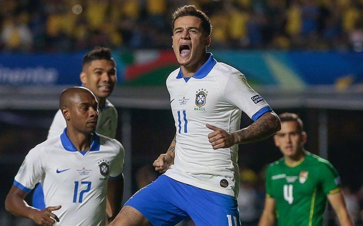 Doblete de Coutinho en el estreno de la Copa América