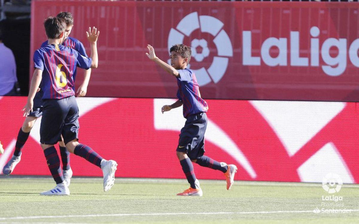 El Alevín A ya está en semifinales de Laliga Promises (0-2)