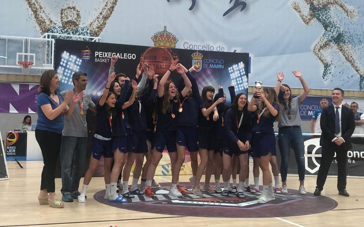 L'infantil femení, bronze en el campionat d'Espanya
