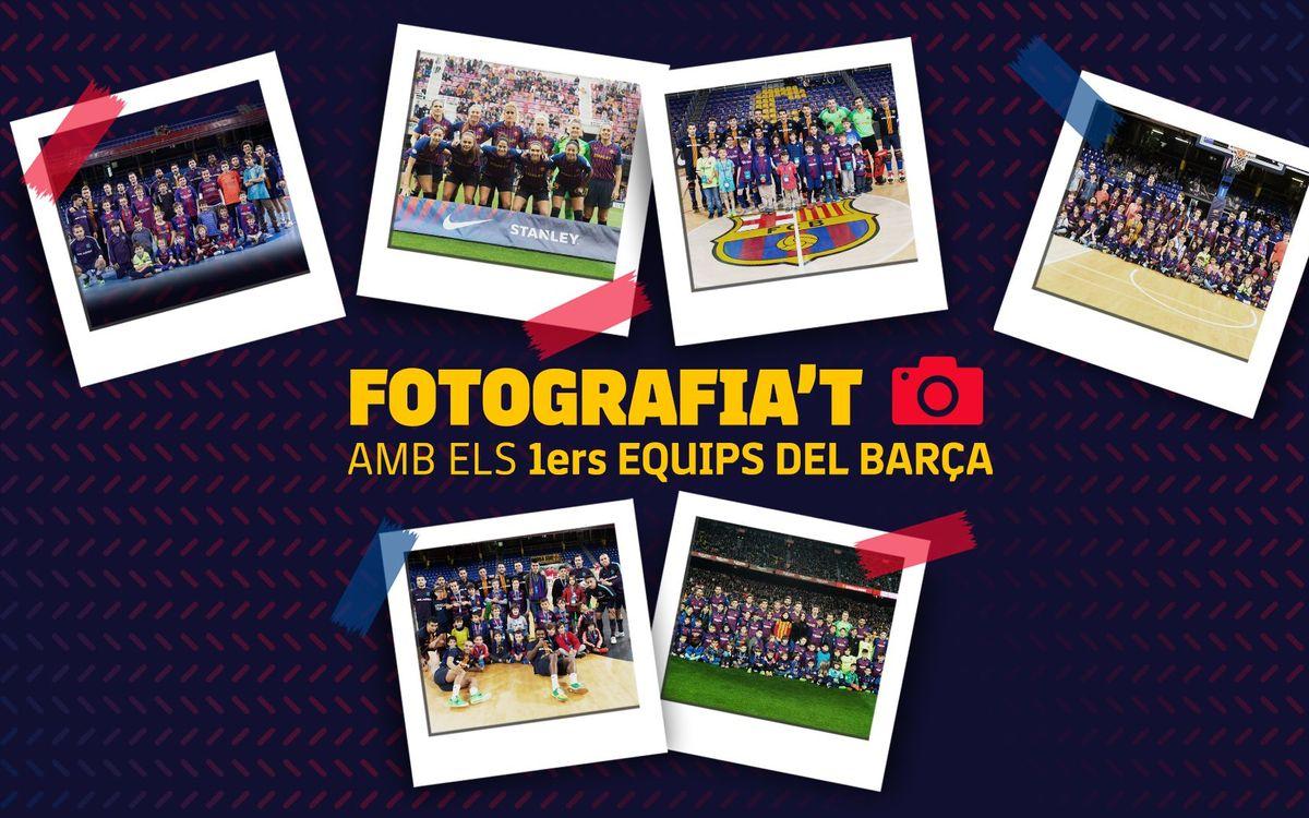 Ja pots demanar via 'online' la teva foto amb els primers equips del Barça