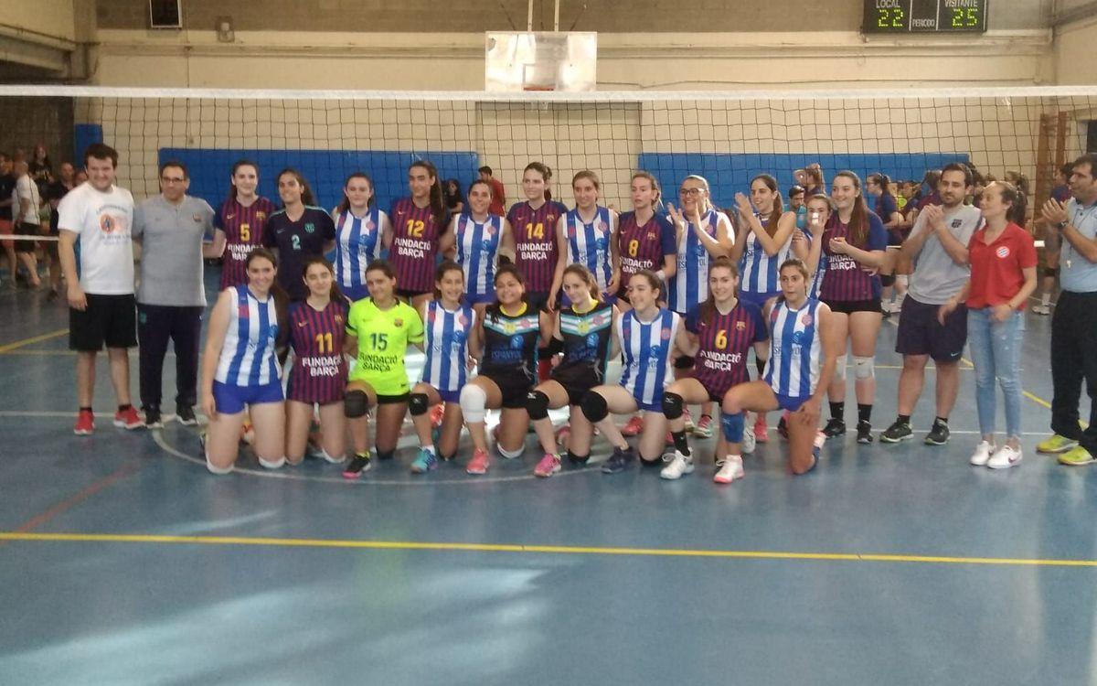 El mejor voleibol femenino de Barcelona se reúne en el primer trofeo Luis de la Fuente
