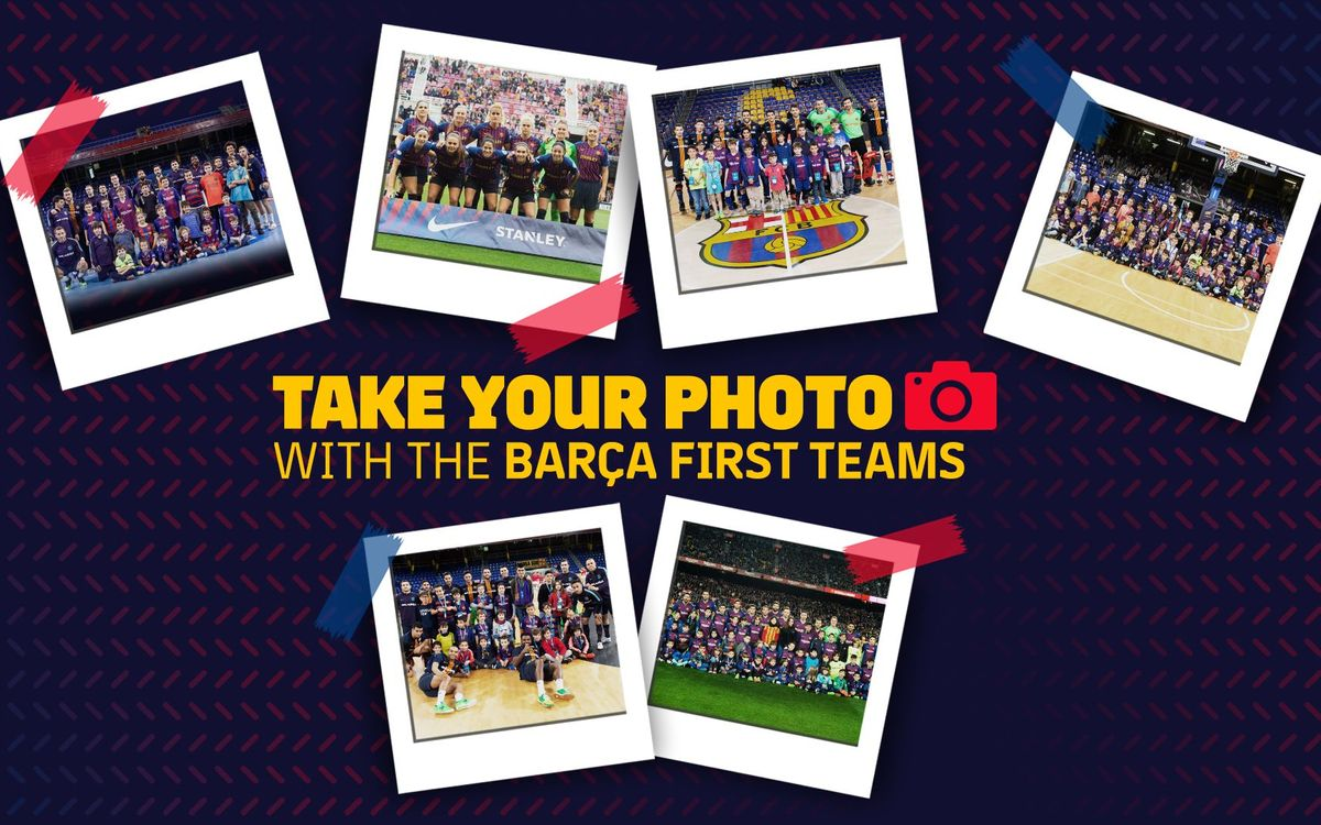 Go online to get your picture taken with Barça's first teams