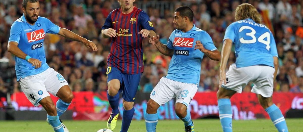 El Barça i el Nàpols, amb vincles més enllà de tres amistosos