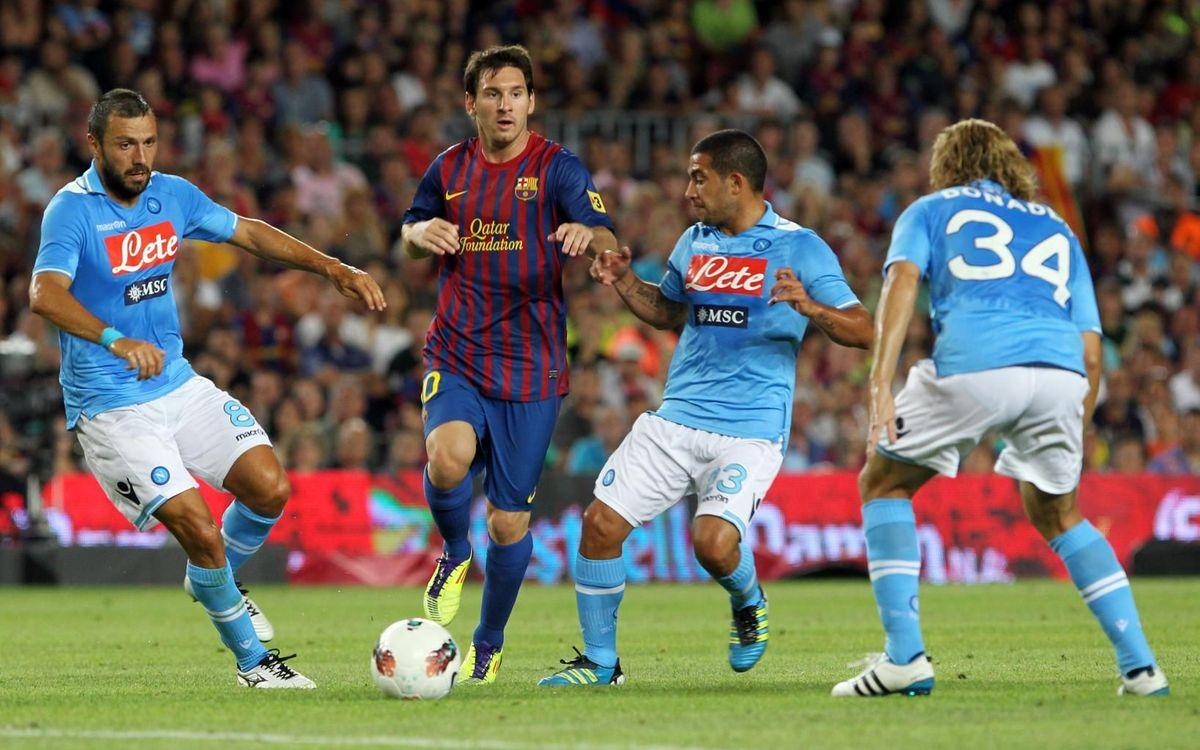 Barça y Nápoles, con vínculos más allá de tres amistosos