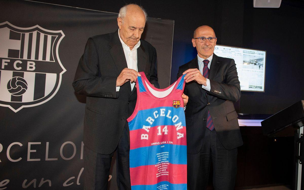 Joan Bladé i Jordi Bonareu 60 aniversari Lliga bàsquet