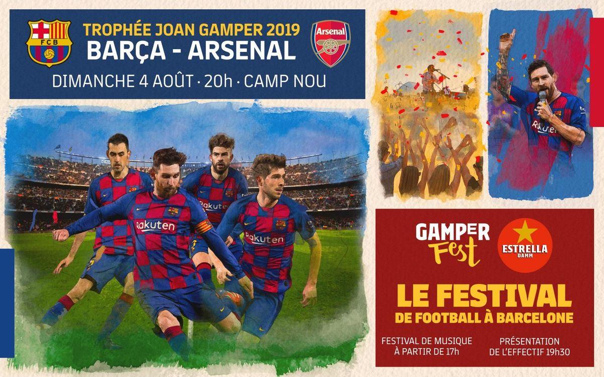 Barça - Arsenal, affiche du Gamper le 4 août