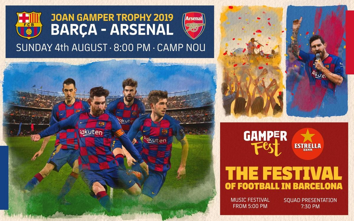 Barça to host Arsenal in Gamper match on August 4