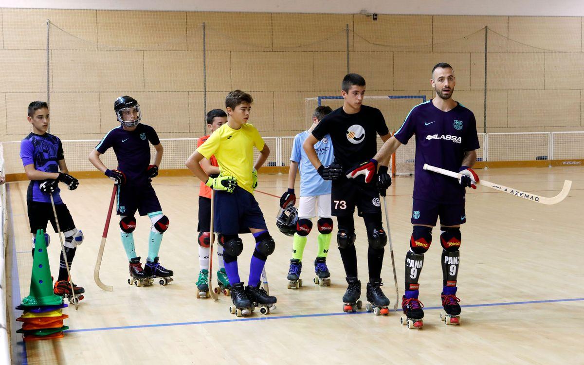 Empieza el Campus de hockey patines del Barça Lassa