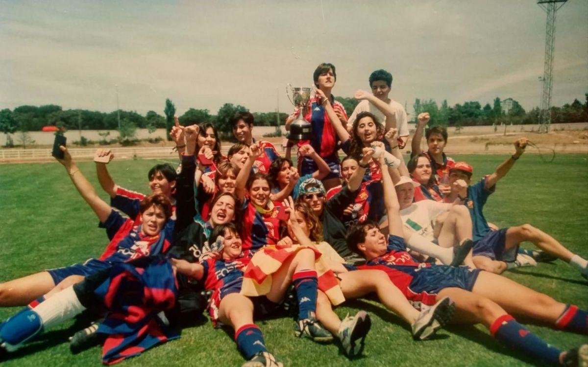 25 años del primer título oficial del fútbol femenino azulgrana