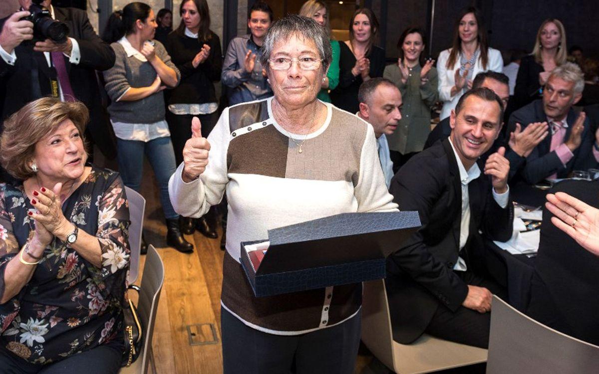 Condol per la mort als 81 anys de Núria Llansà, exjugadora del FC Barcelona