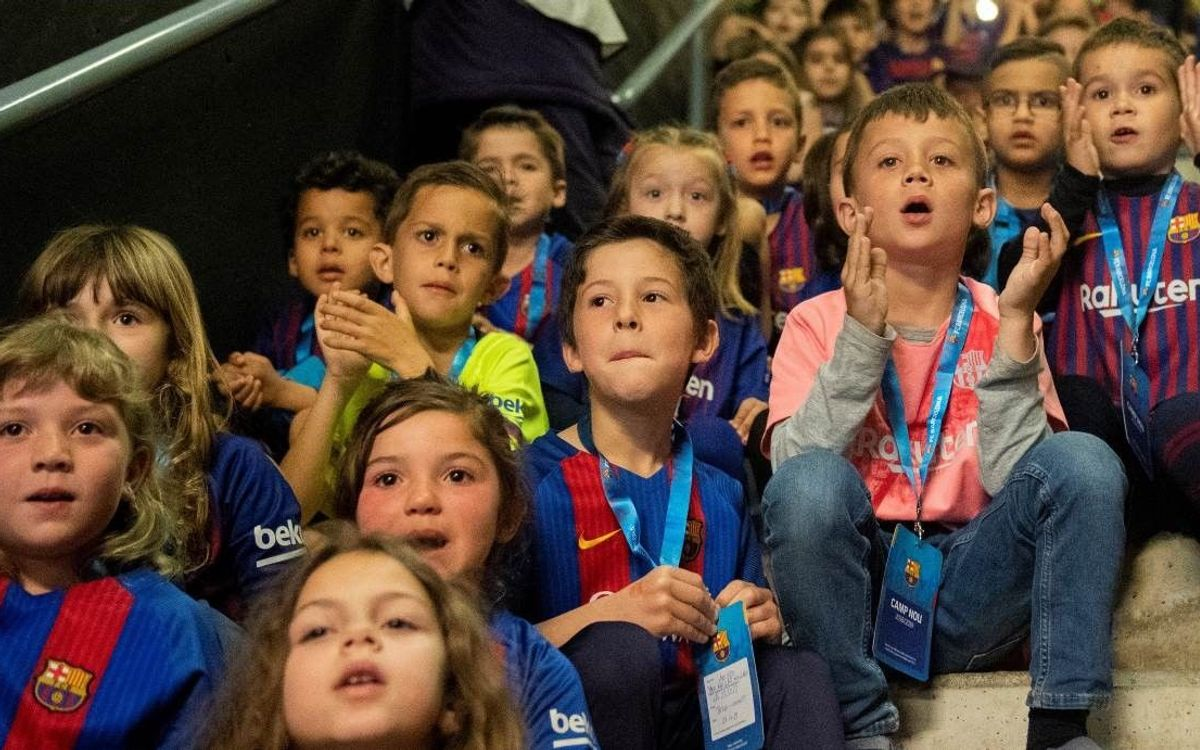 Más de 72.000 niños y niñas han asistido al Camp Nou de forma gratuita con los programas del Área Social
