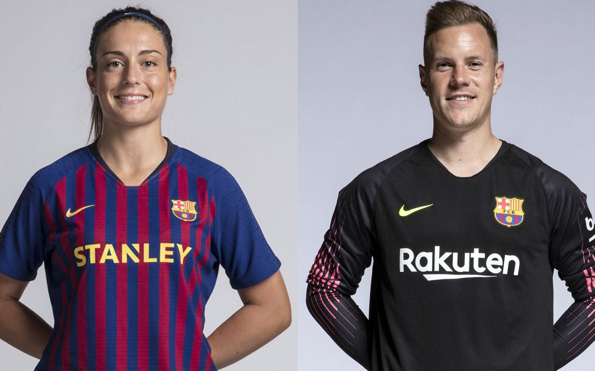 Ter Stegen and Alexia Putellas, Barça Players Award for best fair play of the season