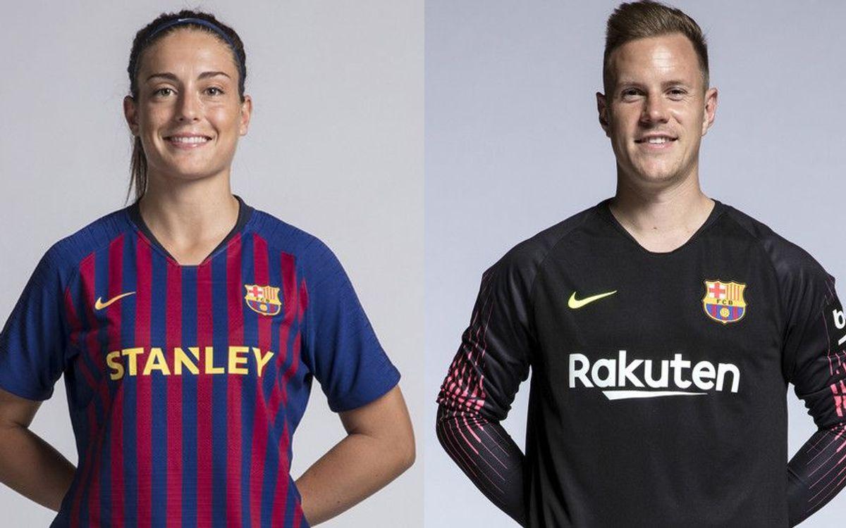 Ter Stegen y Alexia Putellas, Premio Barça Jugadores al mejor fair play de la temporada