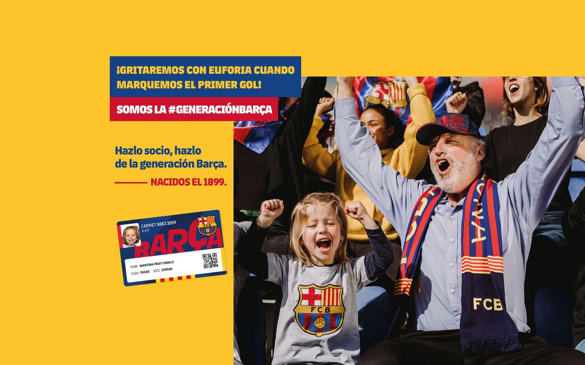 Free membership for the new Barça generation