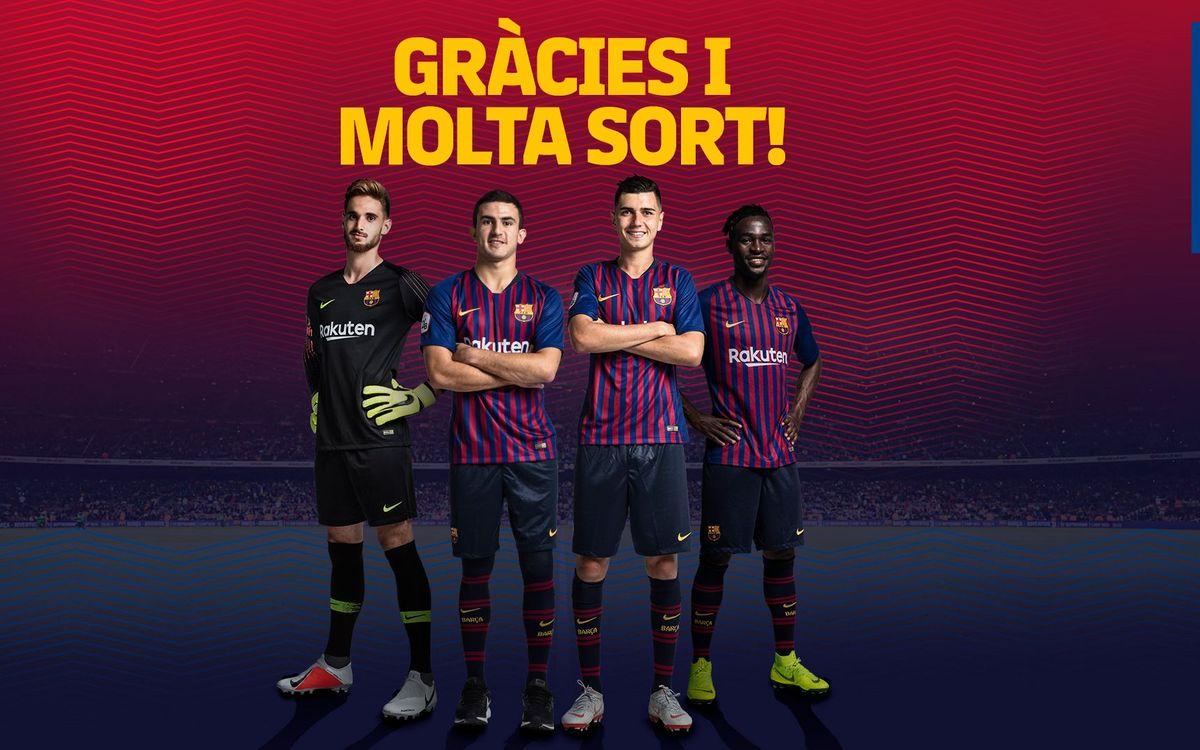 Jokin Ezkieta, Mate, Mujica y Merveil no continuarán la próxima temporada en el Barça B