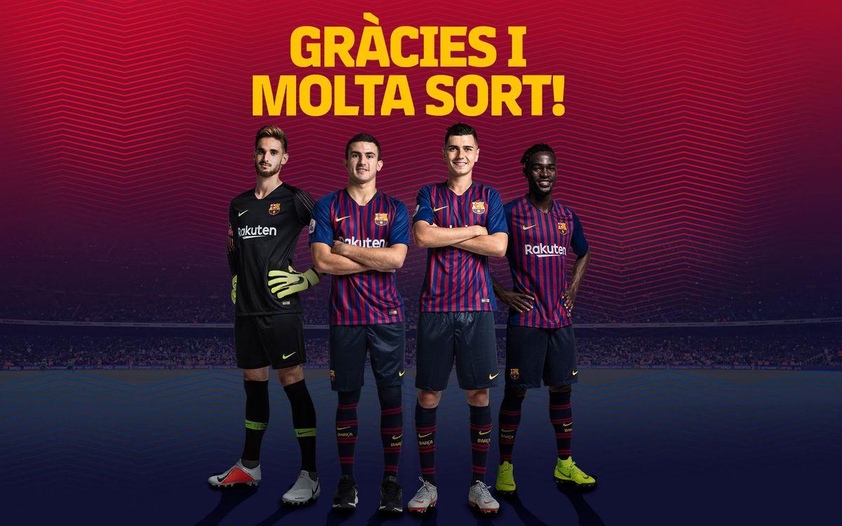 Jokin Ezkieta, Mate, Mujica i Merveil no continuaran la temporada vinent al Barça B