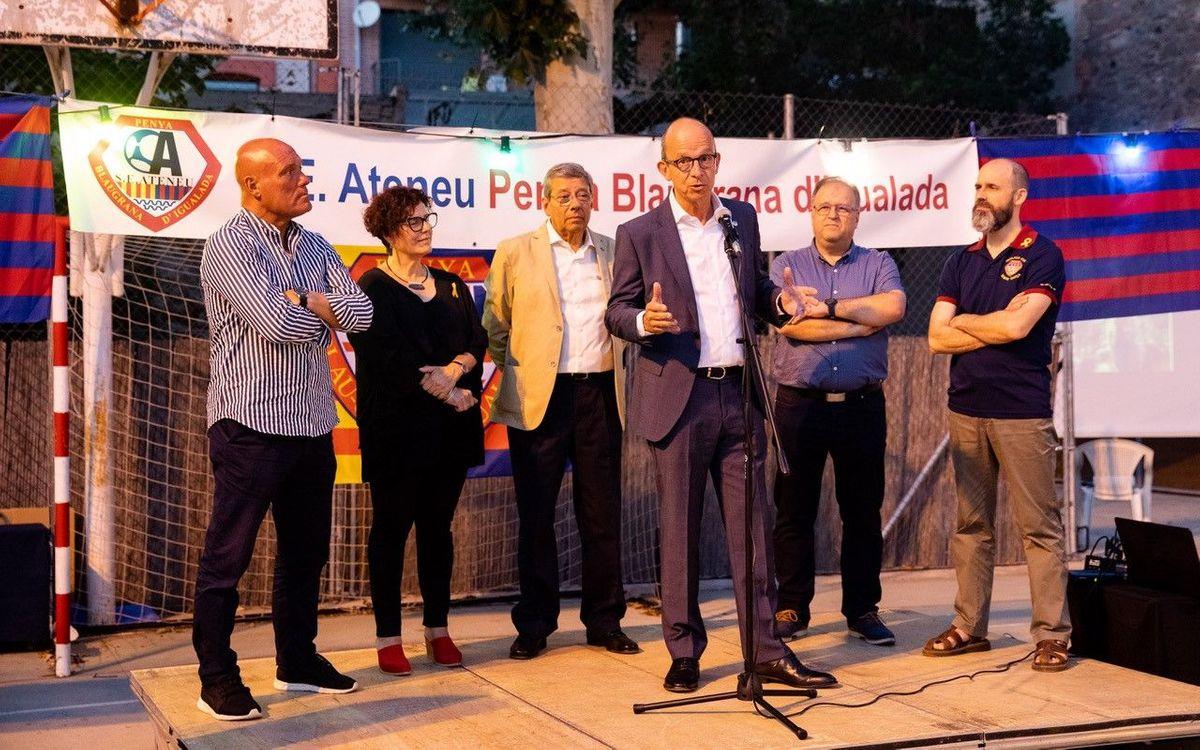 Jordi Cardoner viu una emotiva celebració dels 60 anys de la Penya Blaugrana Igualada