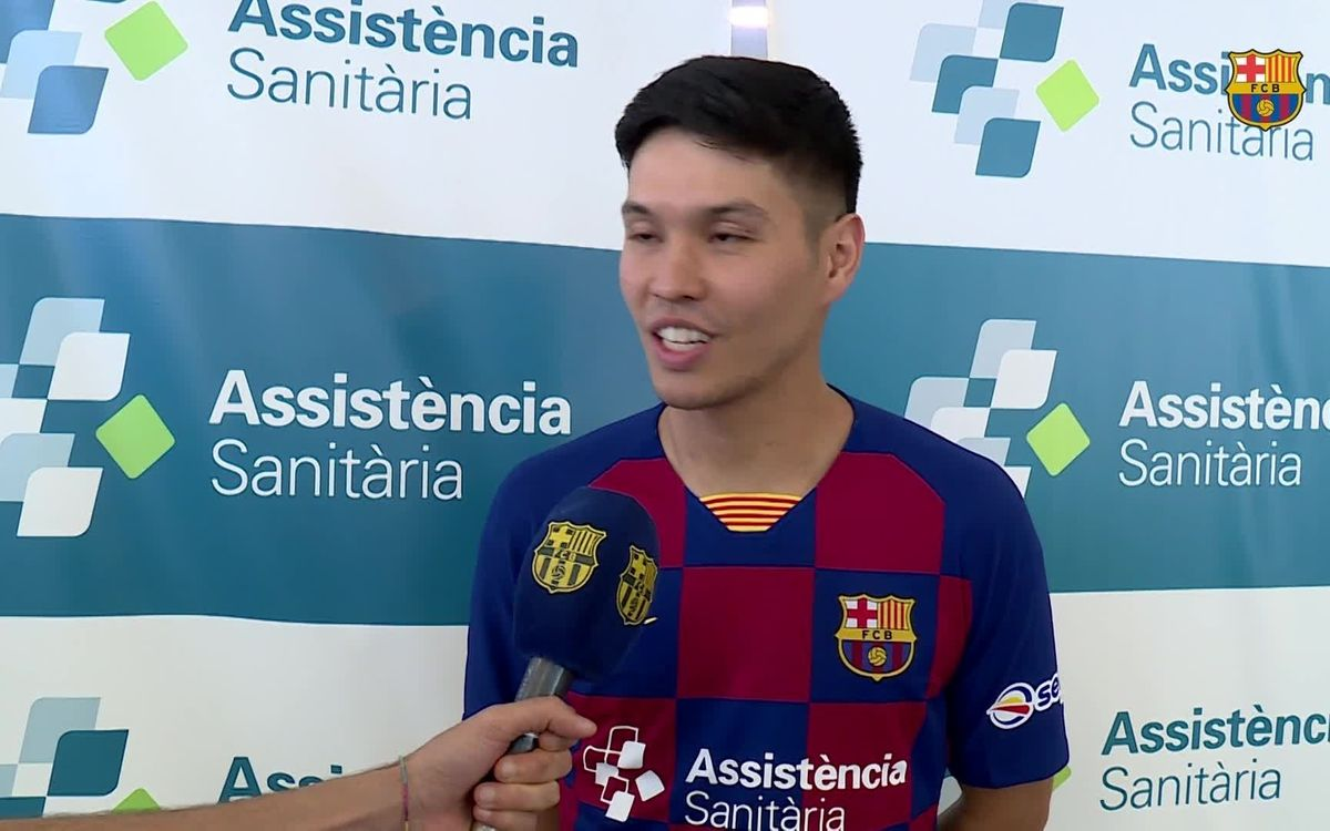 Declaracions Daniel Shiraishi, nou jugador del Barça AS (futbol sala) 2019/2020