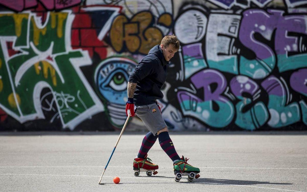 El hockey urbano de Helder Nunes, en el Raval