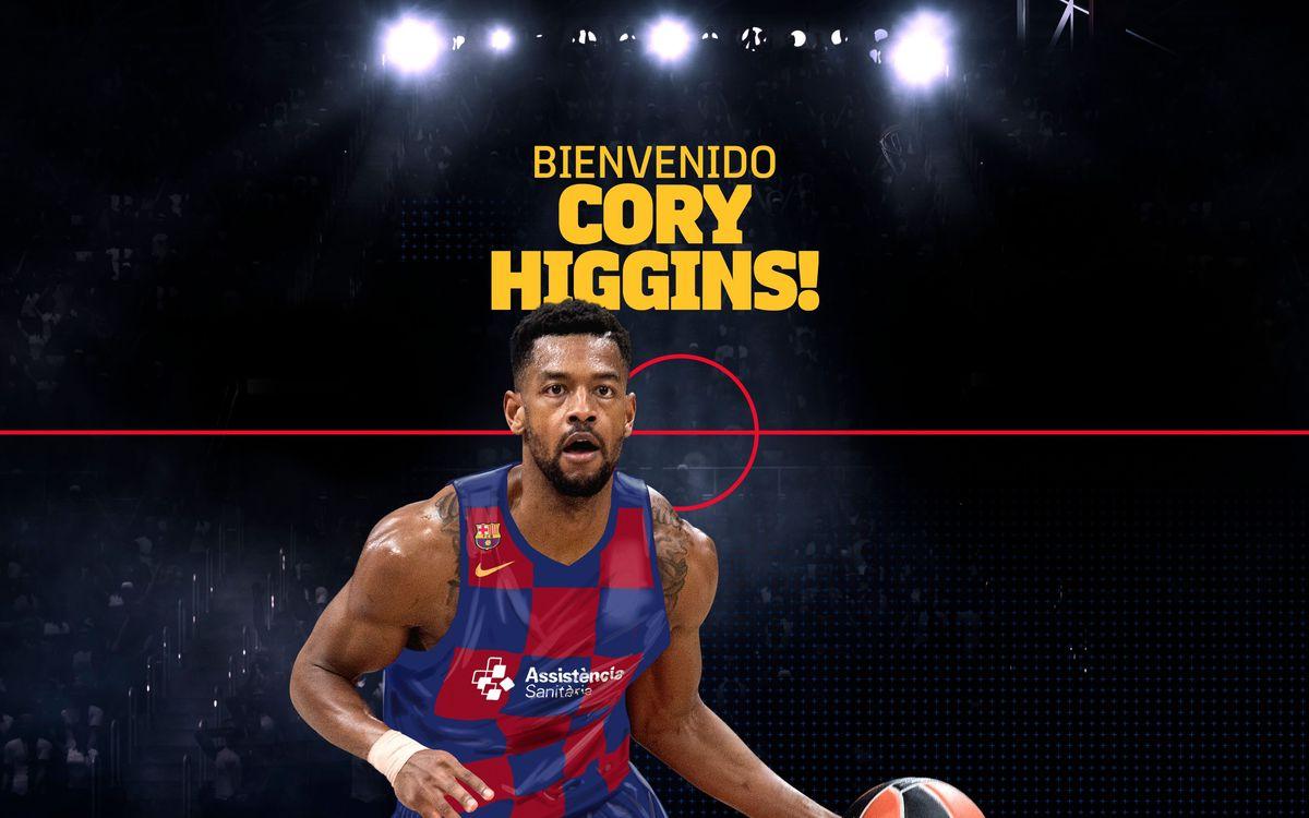 Cory Higgins, refuerzo de lujo para el Barça