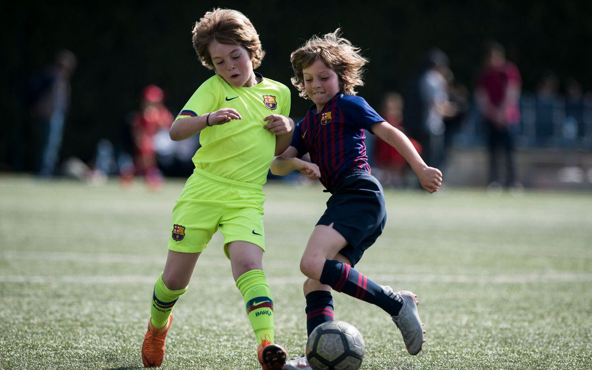 Six athletes from Barça Escola Barcelona join club's youth system